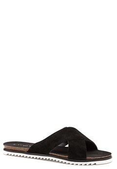 VERO MODA Emalie leather sandal Black Bubbleroom.se