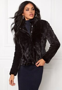 VERO MODA Fallon Short Fake Fur Black Bubbleroom.se