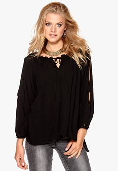 F.A.V Nice Lace Blouse Black Bubbleroom.se