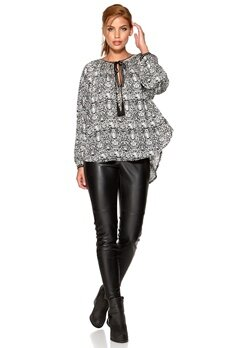 F.A.V Snake Blouse Black/White Bubbleroom.se