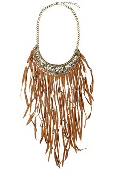 77thFLEA Fringe necklace Brown/Gold Bubbleroom.se