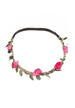 77thFLEA Mini flower headband Dark pink Bubbleroom.se
