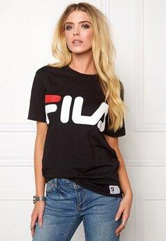 FILA Classic Logo Tee Black Bubbleroom.se