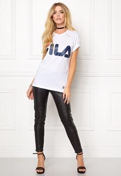 FILA Classic Logo Tee White Bubbleroom.se