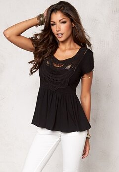 Chiara Forthi Fontazza Crochet Top Black Bubbleroom.se