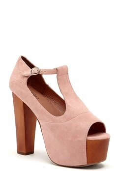 Jeffrey Campbell Foxy WD Shoes 268 Pink Suede Bubbleroom.se