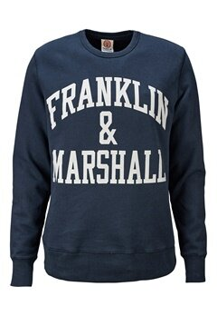 Franklin & Marshall Fleece 167 Navy Bubbleroom.se