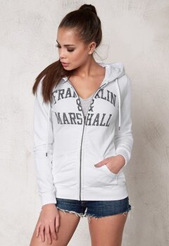 Franklin & Marshall Fleece Fleece Zip White Bubbleroom.se