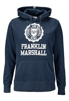 Franklin & Marshall Fleece Hood 167 Navy Bubbleroom.se