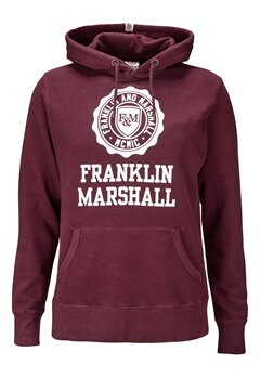 Franklin & Marshall Fleece Hood 656 Amaranto Bubbleroom.se
