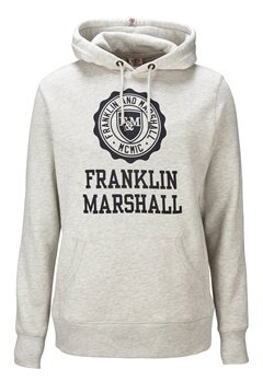 Franklin & Marshall Fleece Hood Original Grey Bubbleroom.se