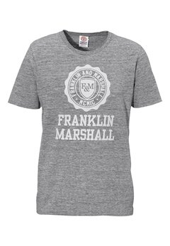 Franklin & Marshall Jersey T-Shirt 023 Black Melange Bubbleroom.se