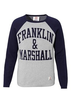 Franklin & Marshall Knitted Sweater 874 Sport Grey Bubbleroom.se