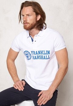 Franklin & Marshall Polo Piquet Classic White Bubbleroom.se