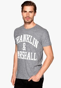 Franklin & Marshall T-Shirt Black Melange Bubbleroom.se
