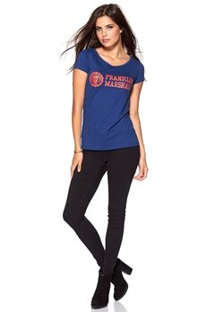 Franklin & Marshall T-Shirt Detroit Blue Bubbleroom.se