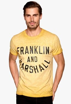 Franklin & Marshall T-Shirt Vintage Gold Bubbleroom.se