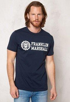 Franklin & Marshall Tshirt Jersey Round Navy Bubbleroom.se
