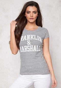 Franklin & Marshall Tshirt Jersey Round Sport Grey Bubbleroom.se