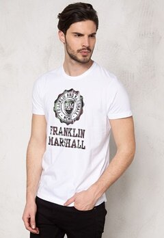 Franklin & Marshall Tshirt Jersey Round White Bubbleroom.se