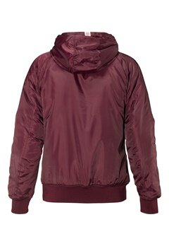 Franklin & Marshall Ziphood Jacket 656 Bordeaux Bubbleroom.se