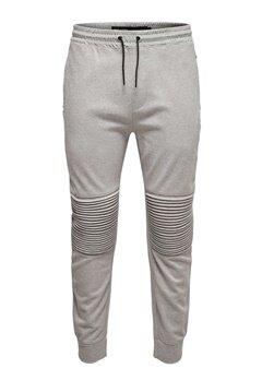 ONLY & SONS Fritz quilted pants Light grey melange Bubbleroom.se