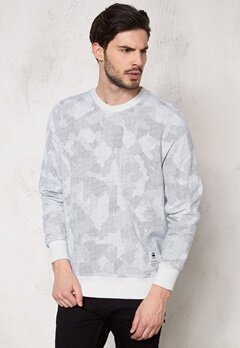 G-STAR Ferrous Camo l/s Sweater 5950 White Bubbleroom.se
