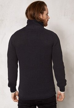 G-STAR Filler aero knit l/s black/mazarine blue Bubbleroom.se