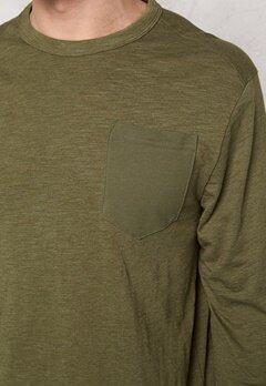 G-STAR Rinep Pocket l/s Sweater 724 Sage Bubbleroom.se
