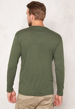 G-STAR Yedur Pocket l/s T-shirt dk Bronze Green Bubbleroom.se