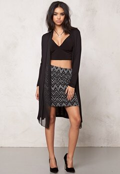 OBJECT Gia Long Cardigan Black Bubbleroom.se