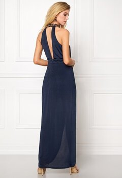 Girl In Mind Long Dress Navy Bubbleroom.se
