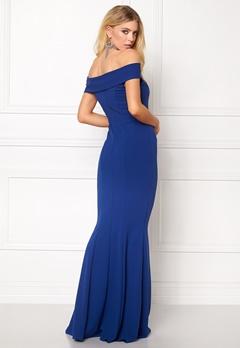 Goddiva Bardot Fishtail Maxi Dres Royal Blue Bubbleroom.se