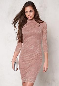 Goddiva Dress Nude Bubbleroom.se