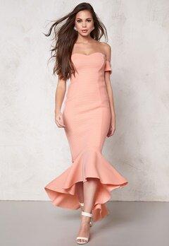 Goddiva Dress Peach Bubbleroom.se