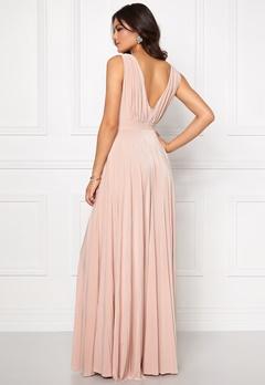 Goddiva Pleated Oscar Dress Nude Bubbleroom.se