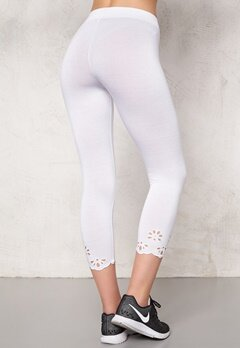 Happy Holly Caprileggings Flora Vit Bubbleroom.se