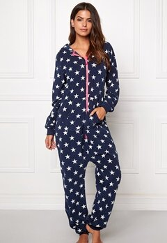 Happy Holly Doris Jumpsuit Marin/Mönstrad Bubbleroom.se