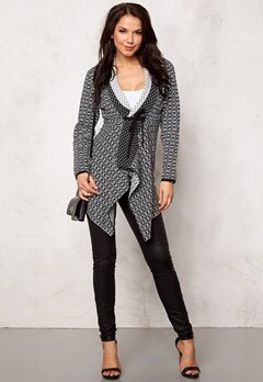 Happy Holly Terese Cardigan Svart/Offwhite Bubbleroom.se