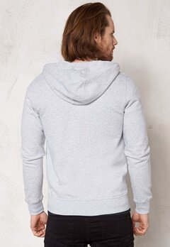 Henri Lloyd Dutlas Hooded Full Zip Light grey melange Bubbleroom.se