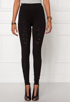Chiara Forthi High-rise Warrior Leggings Black/Gold Bubbleroom.se