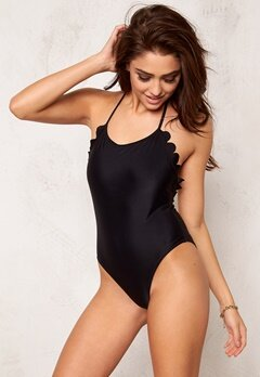 Hot Anatomy Scallop Swimsuit Black Bubbleroom.se