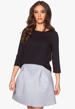 ICHI Azello Skirt 10020 Grey Melange Bubbleroom.se