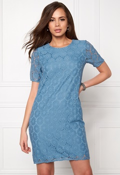 ICHI Bloom Dress Parisian Blue Bubbleroom.se