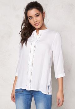 ICHI Circle Shirt 10100 White Bubbleroom.se