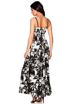 ICHI Jaget Dress 10112 Eggnog/black Bubbleroom.se
