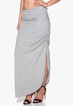 ICHI Joto Skirt 10020 Grey Melange Bubbleroom.se