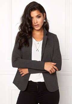 ICHI Kate Blazer Dark Grey Melange Bubbleroom.se