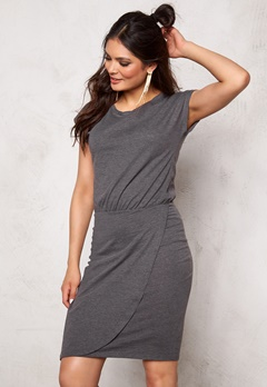 ICHI LA Dress 10021 Dark Grey Mela Bubbleroom.no