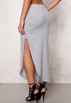 ICHI LA Skirt 10020 Grey Melange Bubbleroom.se